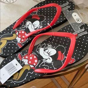 NWT Disney Minnie Mouse Flip Flops